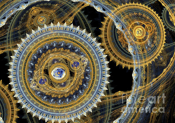 Steampunk Machine Print by Martin Capek