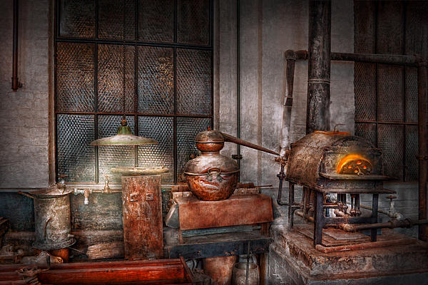 Steampunk - Private Distillery  Print by Mike Savad