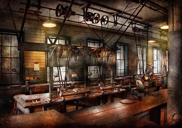 Steampunk - The Workshop Print by Mike Savad