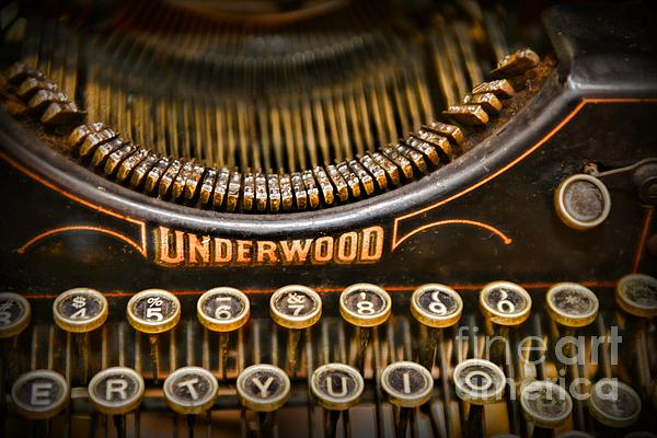 Steampunk - Typewriter - Underwood Print by Paul Ward
