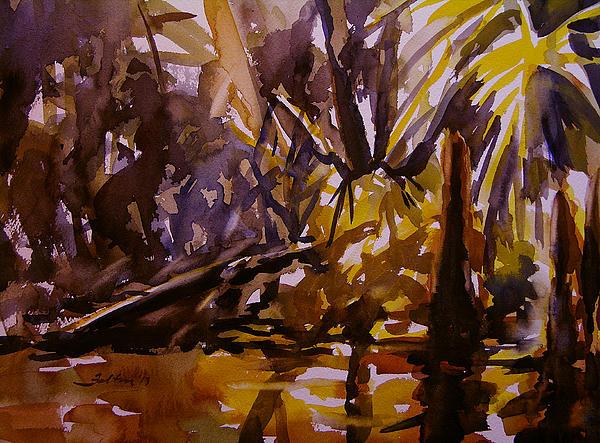 Steamy Swamp Print by Julianne Felton