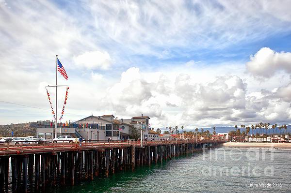 Stearns Wharf Santa Barbara California Print by Artist and Photographer Laura Wrede