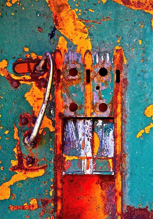 Steel Abstraction Print by Karon Melillo DeVega