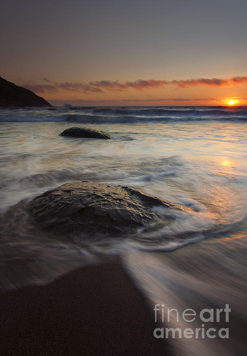 Stepping Stones Print by Mike  Dawson