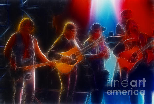 Steve Miller Band Fractal Print by Gary Gingrich Galleries