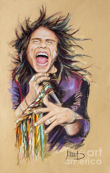 Steven Tyler Print by Melanie D