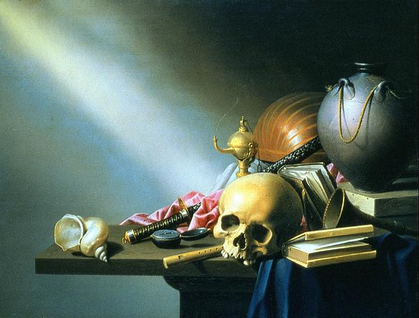 Still Life An Allegory Of The Vanities Of Human Life Print by Harmen van Steenwyck