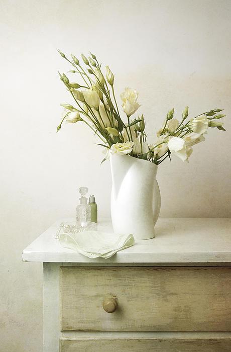 Marlene Ford - Still life of flowers on top of dresser