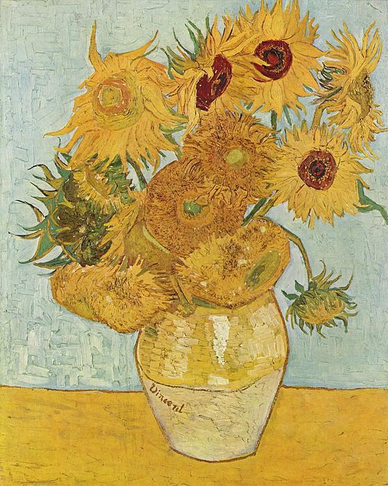 Still Life Sunflowers Print by Vincent Van Gogh