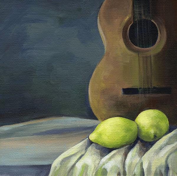 Still Life With Guitar Print by Natasha Denger