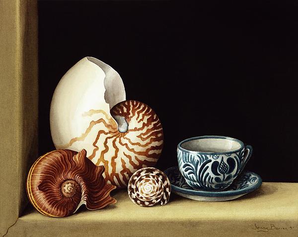 Still Life With Nautilus Print by Jenny Barron