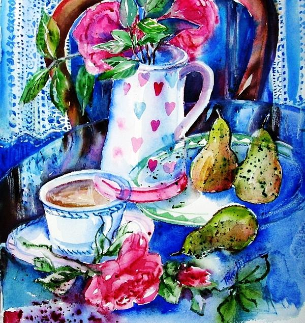 Still Life With Roses Print by Trudi Doyle