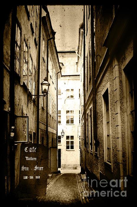 Stockholm Cafe Print by Joan McCool