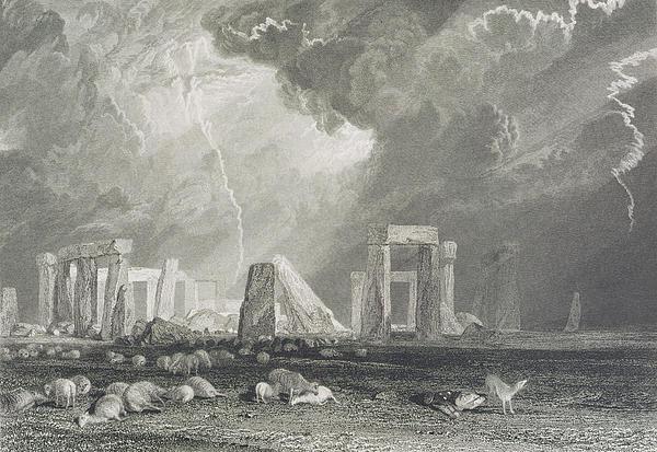 Stone Henge Print by Joseph Mallord William Turner