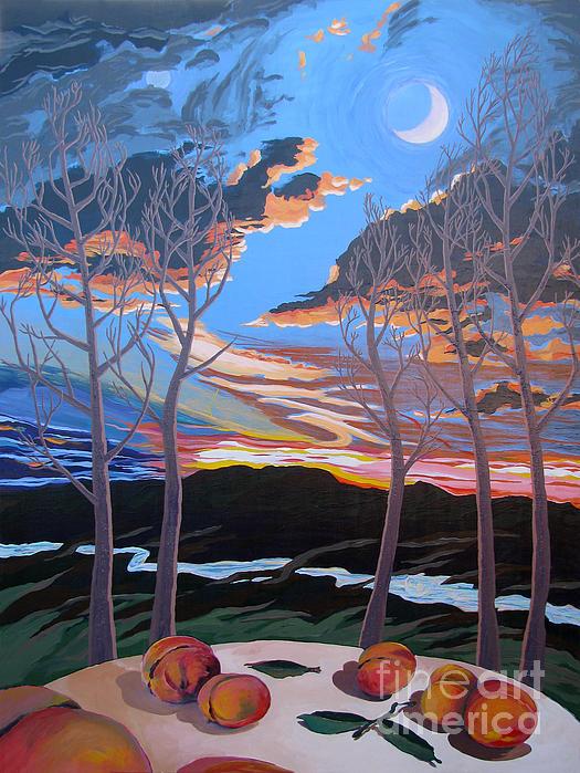Stone House Supper Club Trees Print by Vanessa Hadady BFA MA