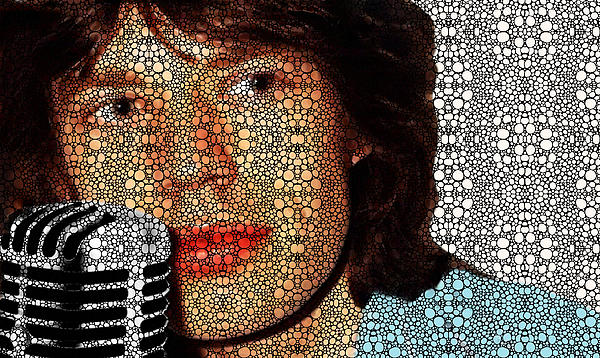 Stone Rock'd Stone - Mick Jagger Tribute By Sharon Cummings Print by Sharon Cummings