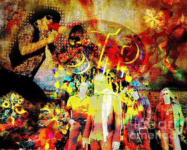 Stone Temple Pilots Original Print by Ryan RockChromatic