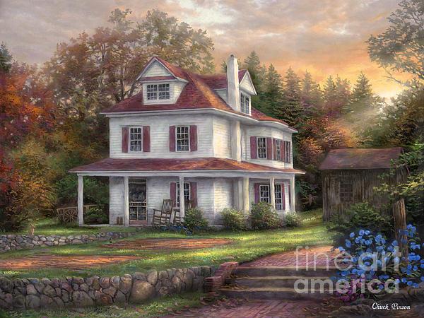Stone Terrace Farm Print by Chuck Pinson
