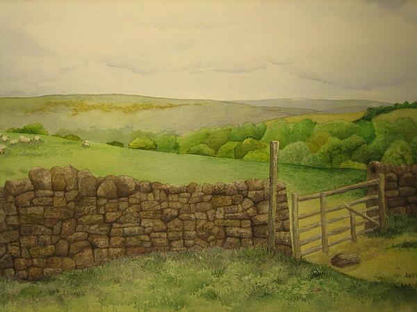 Stone Wall Print by Jeff Lucas