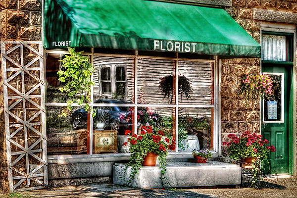 Store - Florist Print by Mike Savad