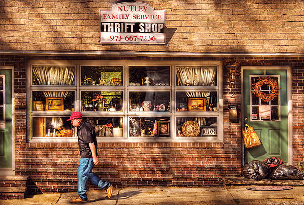 Store -  The Thrift Shop Print by Mike Savad