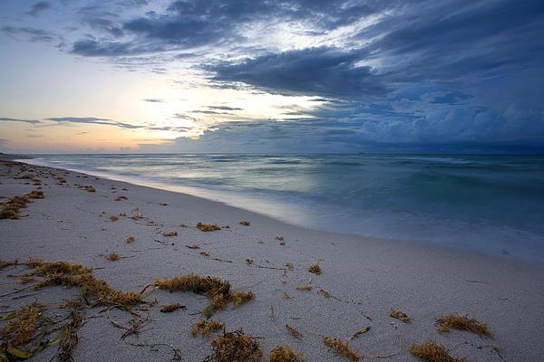 Storm Approaching Miami Print by Matt Tilghman