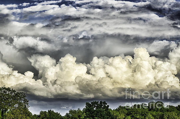 Storm Clouds Over Mountain Print by Thomas R Fletcher