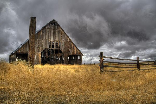Jean Noren - Storm over Abandoned Barn