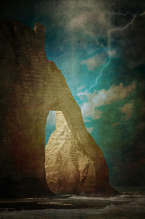 Storm Over Etretat Print by Loriental Photography