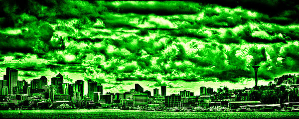 Storm Over The Emerald City Print by David Patterson