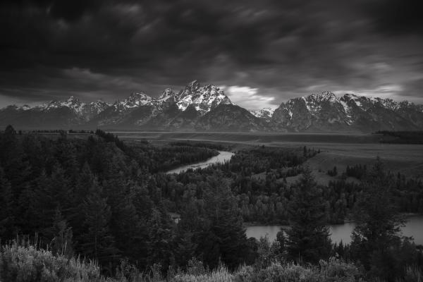 Storm Over The Tetons Print by Andrew Soundarajan