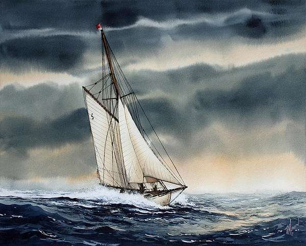 Storm Sailing Print by James Williamson