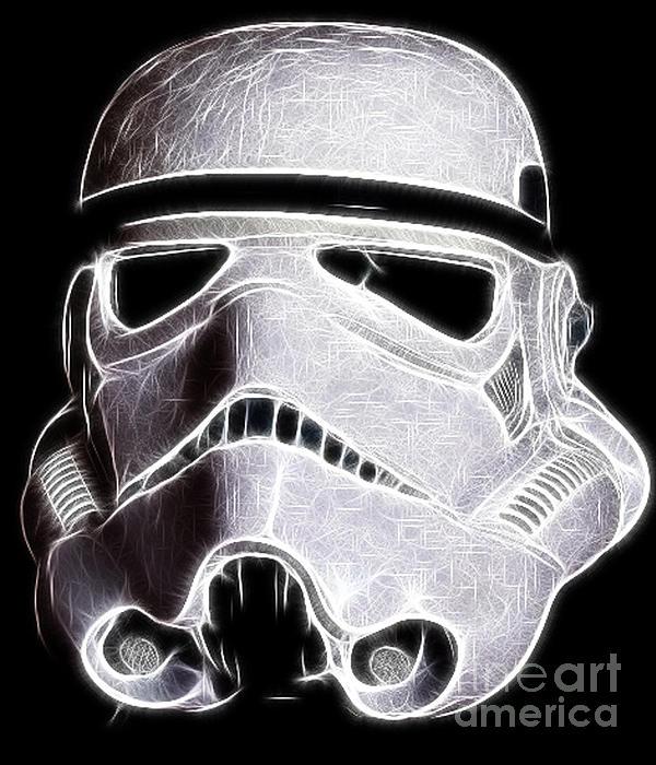 Storm Trooper Helmet Print by Paul Ward