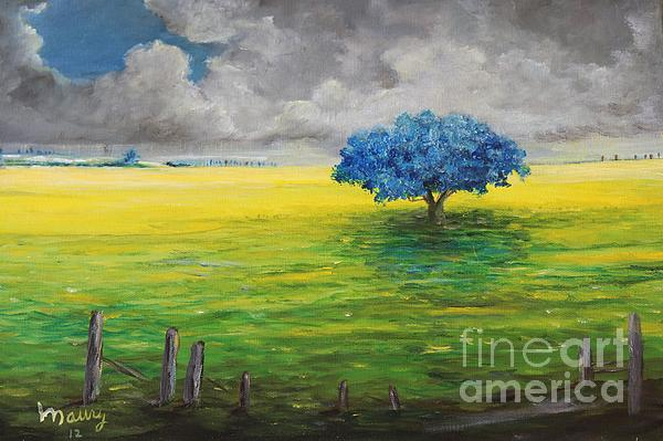 Stormy Clouds Print by Alicia Maury