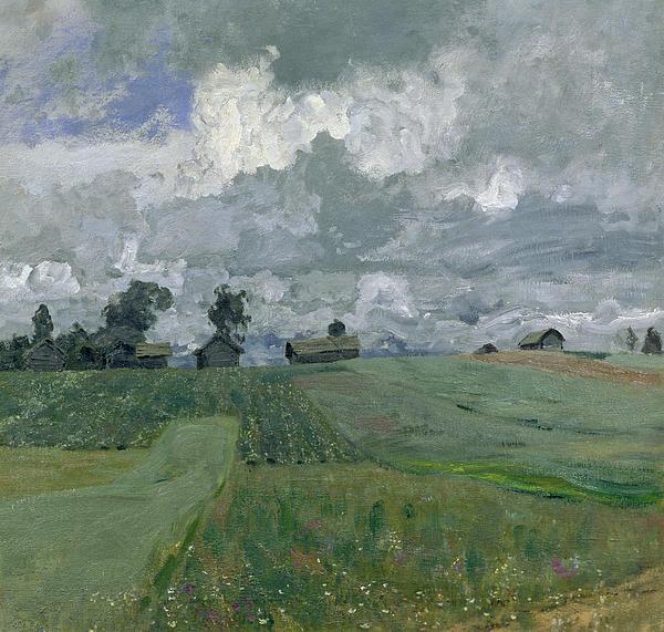 Stormy Day Print by Isaak Ilyich Levitan