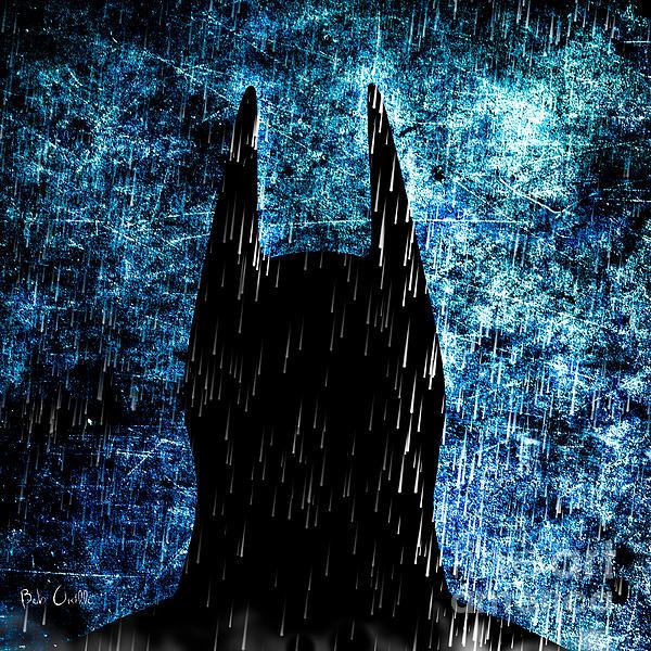 Stormy Knight Dark Knight Print by Bob Orsillo