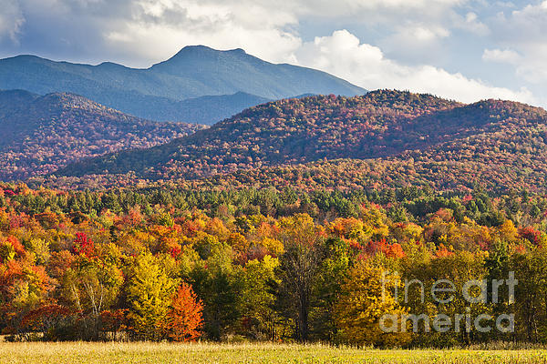 Stormy Mount Mansfield Print by Alan L Graham