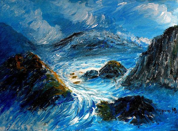 Stormy Sea Print by Mauro Beniamino Muggianu