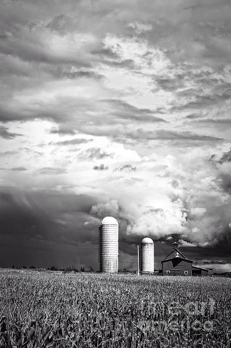 Stormy Weather On The Farm Print by Edward Fielding