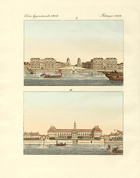 Strange Buildings In England Print by Splendid Art Prints