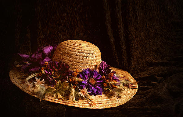 Ivelina  Aasen - Straw Hat and Flowers