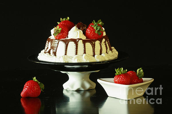 Strawberry Chocolate Dream Cake Print by Inspired Nature Photography By Shelley Myke