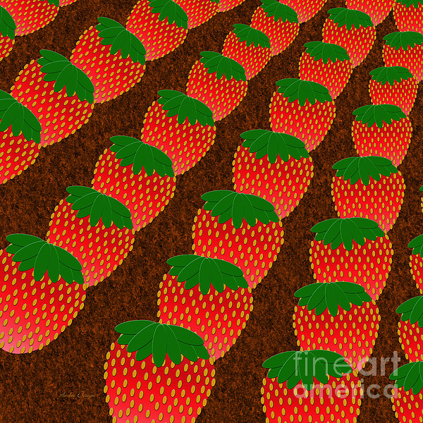 Strawberry Fields Forever Print by Andee Design