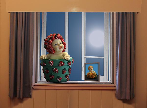 Donuts Art - Strawberry Girl in Love
