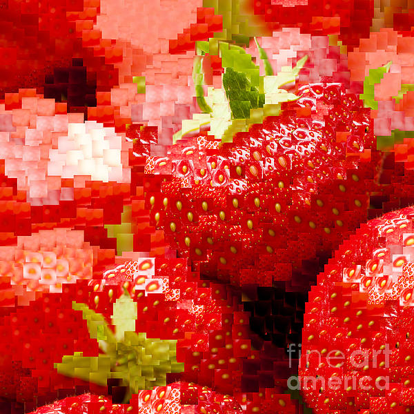 Anne Gilbert - Strawberry Mosaic