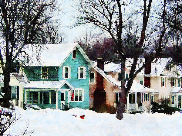Street After Snow Print by Susan Savad