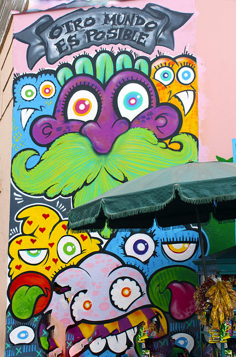 Street Art Lima Peru 2 Print by Kurt Van Wagner