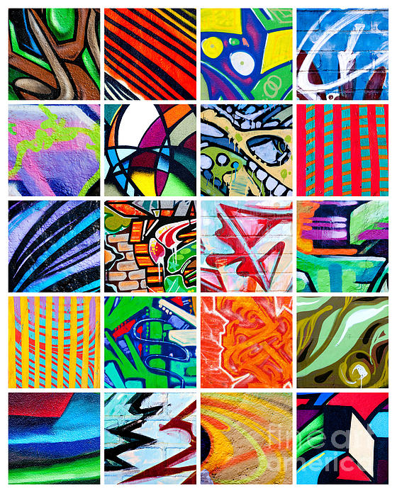 Street Art Patchwork Print by Art Block Collections