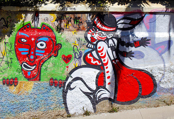 Street Art Valparaiso Chile 10 Print by Kurt Van Wagner