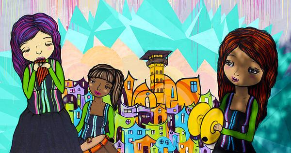 Street Art Valparaiso Chile 18 Print by Kurt Van Wagner
